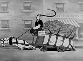 Screenshots from the 1935 Fleischer Studio cartoon Be Kind to
