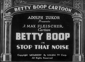 Screenshots from the 1935 Fleischer Studio cartoon Stop That Noise