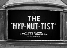 Screenshots from the 1935 Fleischer Studio cartoon The Hyp-Nut-Tist