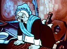 Screenshots from the 1935 Fleischer Studio cartoon The Kids in the Shoe