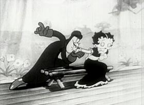 Screenshots from the 1935 Fleischer Studio cartoon No! No! A Thousand Times No!!