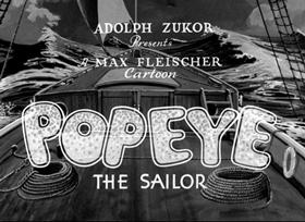 Screenshots from the 1935 Fleischer Studio cartoon Choose Your Weppins