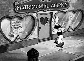 Screenshots from the 1935 Fleischer Studio cartoon For Better or Worser