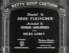 Screenshots from the 1935 Fleischer Studio cartoon A Language All My Own