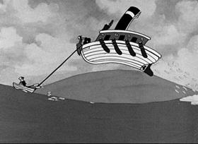 Screenshots from the 1935 Fleischer Studio cartoon Dizzy Divers