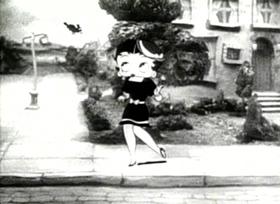 Screenshots from the 1935 Fleischer Studio cartoon Betty Boop and Grampy