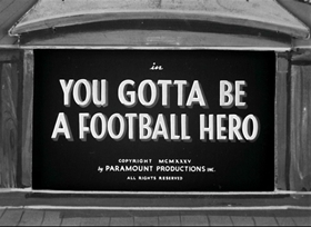 Screenshots from the 1935 Fleischer Studio cartoon You Gotta Be a Football Hero