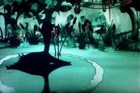 Screenshots from the 1935 Fleischer Studio cartoon Time For Love