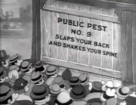 Screenshots from the 1935 Fleischer Studio cartoon Judge For a Day