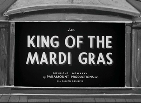 Screenshots from the 1935 Fleischer Studio cartoon King of the Mardi Gras