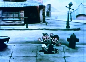 Screenshots from the 1935 Fleischer Studio cartoon Musical Memories