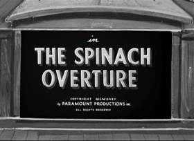 Screenshots from the 1935 Fleischer Studio cartoon The Spinach Overture