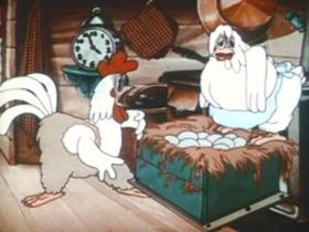 Screenshots from the 1935 MGM cartoon Barnyard Babies