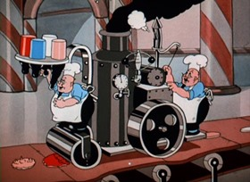 Screenshots from the 1935 Walter Lantz cartoon Candy Land