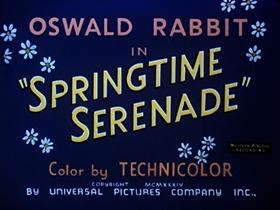 Screenshots from the 1935 Walter Lantz cartoon Springtime Serenade