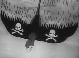 Screenshots from the 1935 Walter Lantz cartoon The Quail Hunt
