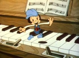 Screenshots from the 1936 Ub Iwerks cartoon Tom Thumb