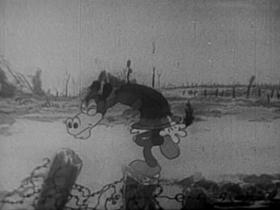 Screenshots from the 1936 Warner Brothers cartoon Boom, Boom
