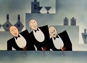 Screenshots from the 1936 Warner Brothers cartoon Page Miss Glory