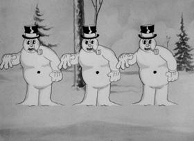 Screenshots from the 1936 Warner Bros. cartoon Alpine Antics