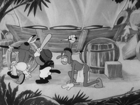 Screenshots from the 1936 Warner Brothers cartoon Westward Whoa