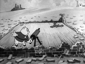 Screenshots from the 1936 Warner Brothers cartoon Plane Dippy