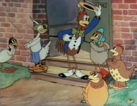 Screenshots from the 1936 Warner Brothers cartoon Let It Be Me
