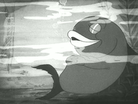 Screenshots from the 1936 Warner Brothers cartoon Fish Tales