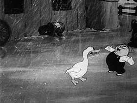Screenshots from the 1936 Warner Brothers cartoon Porky the Rainmaker