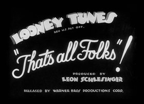 Screenshots from the 1936 Warner Brothers cartoon Porky