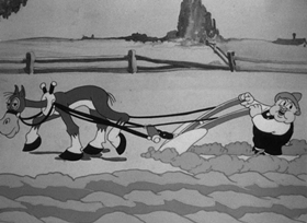 Screenshots from the 1936 Warner Bros. cartoon Milk and Money