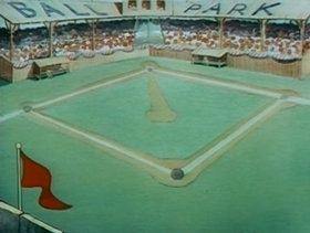 Screenshots from the 1936 Warner Brothers cartoon Boulevardier From The Bronx