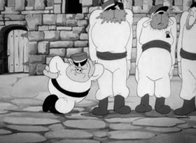 Screenshots from the 1936 Warner Brothers cartoon Little Beau Porky