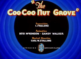 Screenshots from the 1936 Warner Brothers cartoon The Coo-Coo Nut Grove