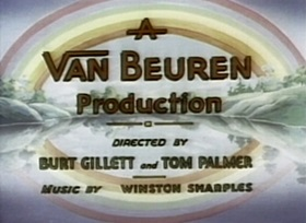 Screenshots from the 1936 Van Beuren cartoon Toonerville Trolley