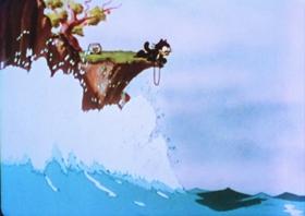 Screenshots from the 1936 Van Beuren cartoon Neptune Nonsense