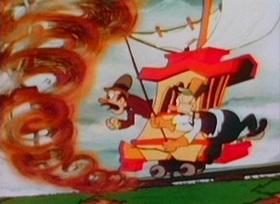Screenshots from the 1936 Van Beuren cartoon Trolley Ahoy