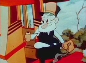 Screenshots from the 1936 Van Beuren cartoon Toonerville Picnic