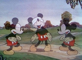 Screenshots from the 1936 Disney cartoon Orphan
