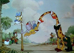Screenshots from the 1936 Disney cartoon Elmer Elephant