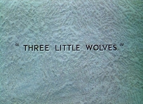Screenshots from the 1936 Disney cartoon Three Little Wolves