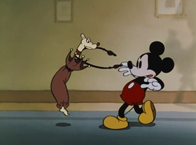 Screenshots from the 1936 Disney cartoon Thru the Mirror