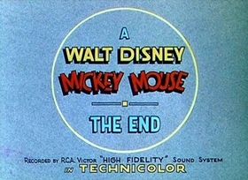 Screenshots from the 1936 Disney cartoon Mickey
