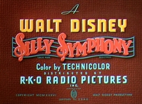 Screenshots from the 1936 Disney cartoon The Country Cousin