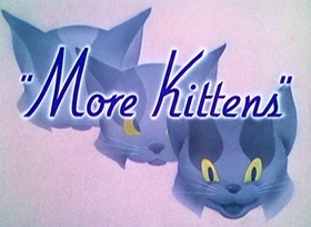Screenshots from the 1936 Disney cartoon More Kittens