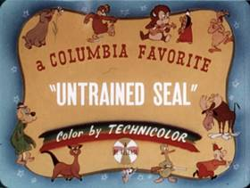 Screenshots from the 1936 Columbia cartoon The Untrained Seal