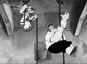Screenshots from the 1936 Fleischer Studio cartoon Vim, Vigor and Vitaliky