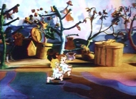 Screenshots from the 1936 Fleischer Studio cartoon Somewhere in Dreamland