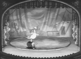 Screenshots from the 1936 Fleischer Studio cartoon Betty Boop and The Little King