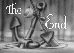 Screenshots from the 1936 Fleischer Studio cartoon A Clean Shaven Man